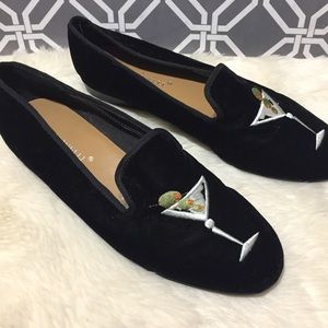 A. Marinelli Shoes - A. Marinelli Martini Velvet Smoking Flats Loafers.